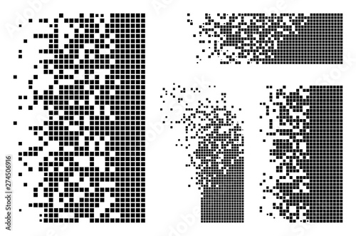 Cuadros en Lienzo Vector dissolved rectangles flat abstraction
