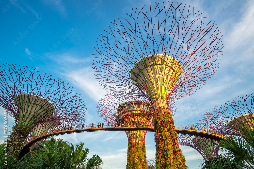 Fototapety, obrazy: Singapore travel concept, landmark and popular for tourist attractions
