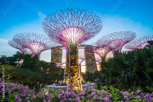 Photo  Singapore travel concept, landmark and popular for tourist attractions