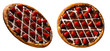 brazilian sweet pizza with chocolate and strawberry