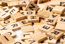Heap Of Scrabble Tile Letters From Above