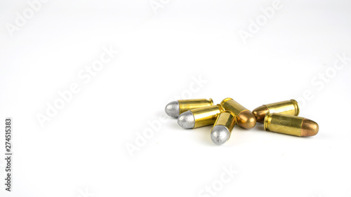 .45 ammo on a white background Canvas Print