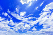 Leinwandbild Motiv Sky background with the fluffy white clouds