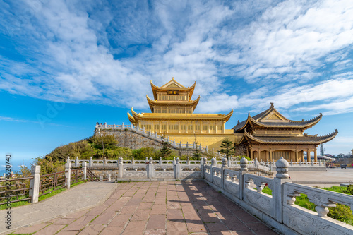 Canvas Prints Peking A gold-roofed temple building in mount emei, sichuan province, China