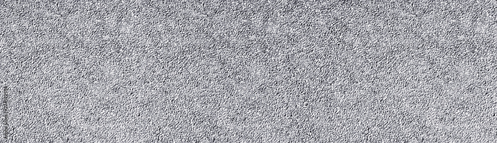 Fototapety, obrazy: Light gray stone wall wide texture. White washed pebble dash panoramic background
