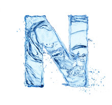 Letter N Made Of Water Splash ...