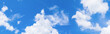 Leinwandbild Motiv panorama sky and cloud in summertime beautiful background