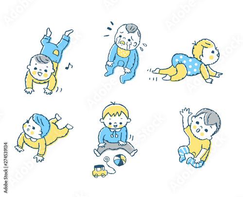 赤ちゃん ポーズ ブルー