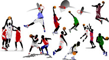 Basketball Players. Vector Ill...