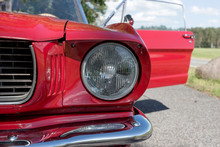 Detail View Of The Headlight. ...