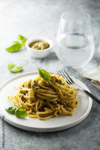 Poster Ecole de Danse Homemade pasta with pesto sauce