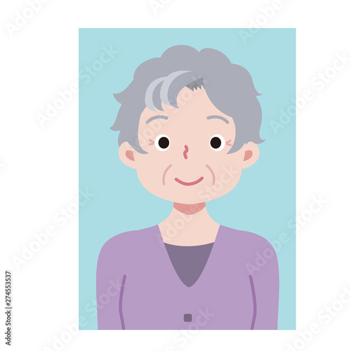 証明写真 高齢女性 Wallpaper Mural