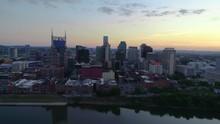 Nashville Tennessee USA Downtown Skyline Aerial