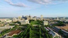 Nashville Tennessee USA Skyline Aerial View