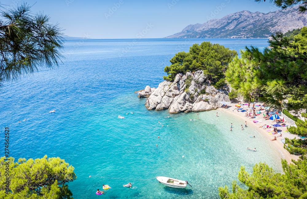 Fototapety, obrazy: Brela beach scenery in Croatia
