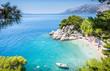 Brela beach scenery in Croatia