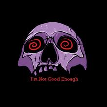 Illustration Of Dizzy Skull / Purple Skull