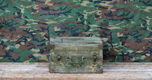 Old Green Military Wooden Box