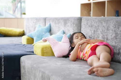 Asian Child Cute Or Kid Sleeping