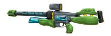 Green Futuristic Sniper Rifle ...