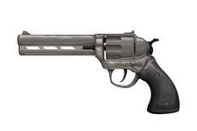 Dark Vintage Revolver Isolated...