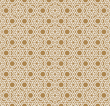 Seamless Arabic Geometric Ornament In Brown Color.