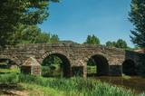 Old Roman stone bridge over the Sever River in Portagem