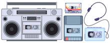 Retro Tape Player. Vintage Cas...