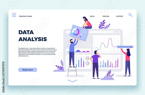 Finance analyst landing page Wallpaper Mural