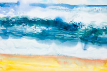 Abstract Backgrounds, Summer Concept Watercolor.