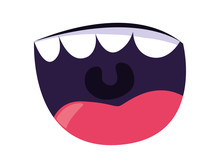 Comic Mouth With Teeth Icon