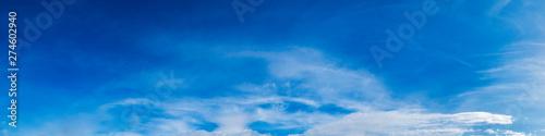 Fototapeta Panorama sky with cloud on a sunny day. Beautiful cirrus cloud. obraz na płótnie
