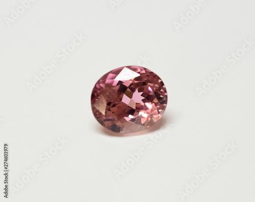 Pink Tourmaline facet cut gemstone Canvas-taulu