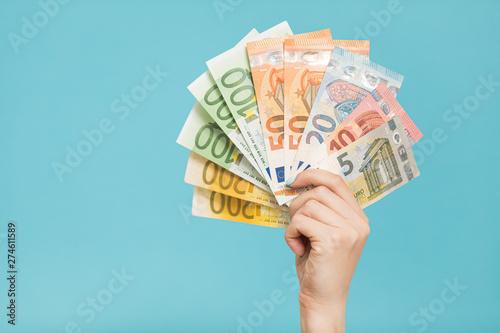 Fotomural Euro Money. euro cash background. Euro Money Banknotes
