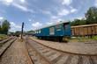 alte Züge und Eisenbahn