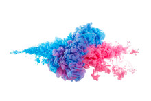 Blue And Red Paint Splash Isol...