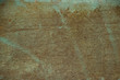 canvas print picture - Ugly green grunge stained rough surface texture