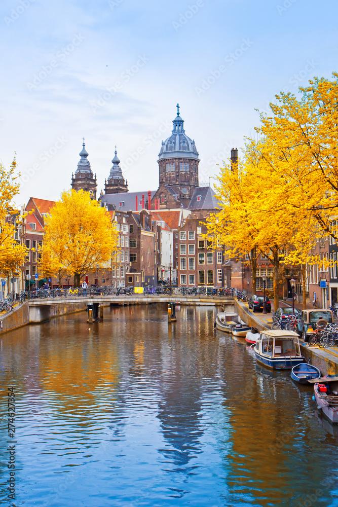 Fototapety, obrazy: Church of St Nicholas, Amsterdam, Holland