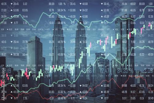 Fototapeta Stats and economy concept obraz