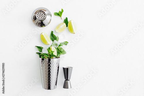 Set of bar accessories for cocktail making Obraz na płótnie
