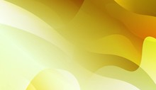 Abstract Background With Wave Green Yellow Gradient Shape. For Futuristic Ad, Booklets. Vector Illustration With Color Gradient