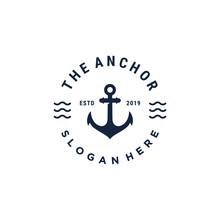 Anchor Symbol Vector Logo Design