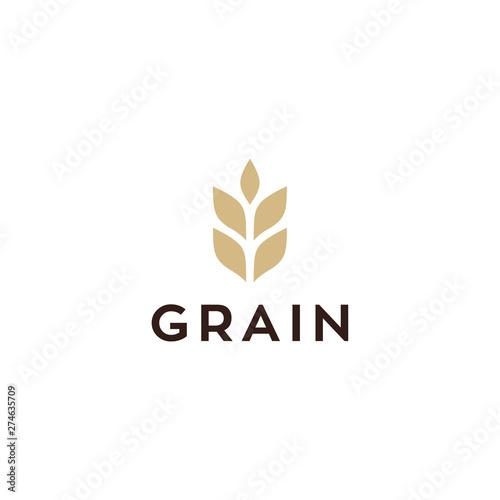 Fotomural wheat / grain icon vector logo design
