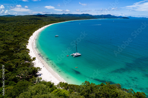 Poster Turquoise Aerial Beach Coastline Australia