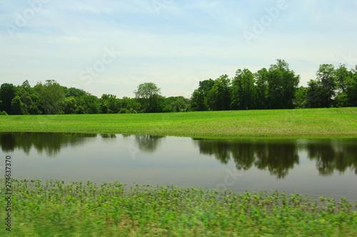 Fototapeta Flooded Agricultural Land, Ohio obraz na płótnie