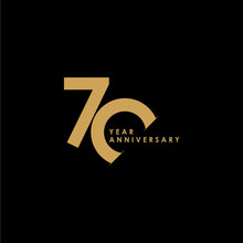 70 Year Anniversary Celebration Vector Template Design Illustration