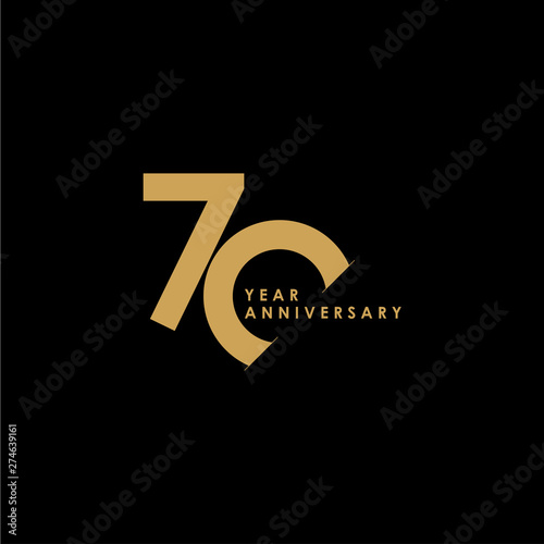 Obraz na plátně 70 Year Anniversary Celebration Vector Template Design Illustration