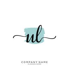 UL Initial Handwriting Logo Ve...