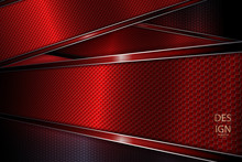 Dark Abstract Red Design With Textural Frames With Shiny Edging