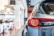 Modern Car Led Tail Lights In Showroom